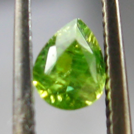 Perfect Horsetail Inclusions Russian Demantoid Garnet GL Litnon.com