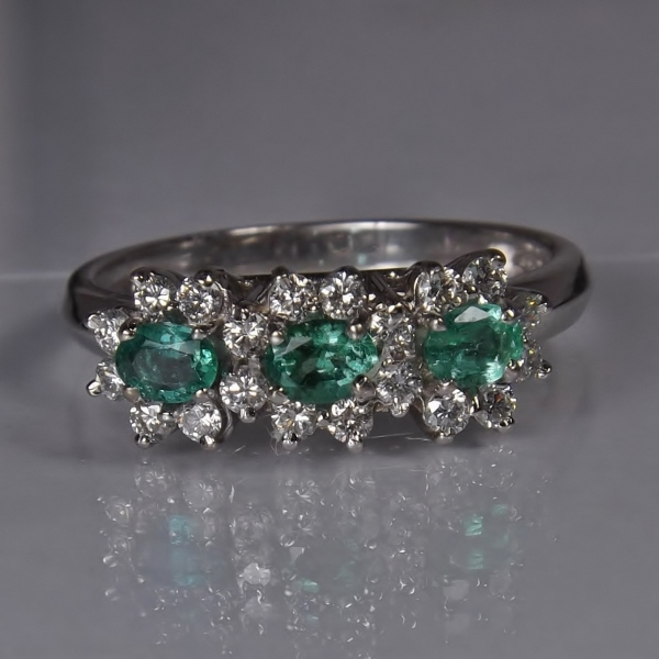 True Brazil Paraiba Tourmaline White Gold Diamond Ring GLI Litnon.com