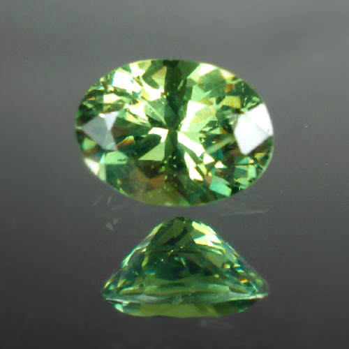 Bright and Pretty!  Demantoid Garnet Namibia  GLI Litnon.com