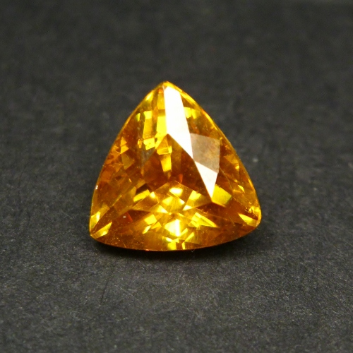 Rare! Yellow Spanish Sphalerite Trillion 3.77 ct GLI Litnon.com