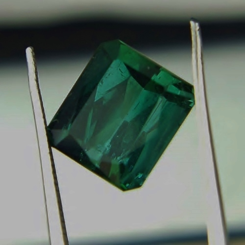 Open Color! Blue Green Tourmaline Afghanistan 5.77ct GLI Litnon.com