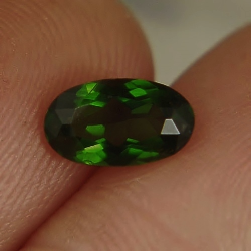 Natural Chrome Tourmaline Tanzania 1.26 ct GLI Litnon.com