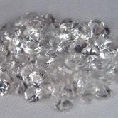Close Out! Top Cut White Topaz 4 mm Rounds $2.00 ea GLI