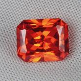 Fine Cutting! Intense Orange Cubic Zirconia GLI