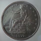 1877-S ICG AU55 Silver Trade Dollar Coin GLI