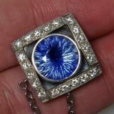 Certified! UNHEATED South East Asia Sapphire Platinum Diamond Pendant 5.20 ct! GLI
