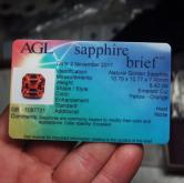 Huge! AGL Certified Rare Orange Ceylon Sapphire 8.42 ct! GLI