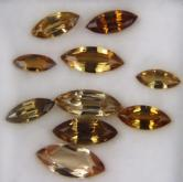 Honey Orange Natural Zircon Lot Tanzania 9.40 ct GLI