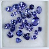 Bright Clean and Pretty! Natural Blue Tanzanite Lot 19.82 ct GLI